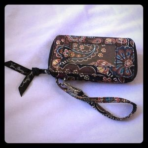 Vera Bradley zipper wallet with hand strap
